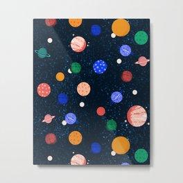 Cosmic Planets  by Andrea Lauren Metal Print