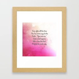 Even After All This Time, by Hafiz Framed Art Print