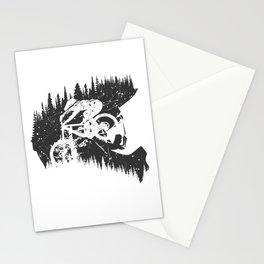 Black Fullface Stationery Cards