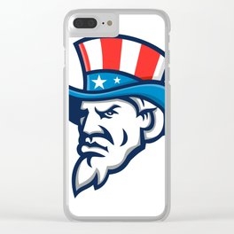 Uncle Sam Wearing USA Top Hat Mascot Clear iPhone Case