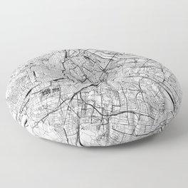 Vienna White Map Floor Pillow