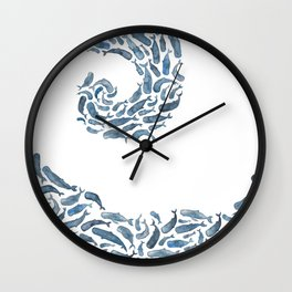 Whale Wave.  Wall Clock