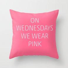 Mean Girls #8 – Pink Throw Pillow
