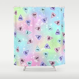YES OR NO - Pastel Shower Curtain