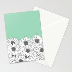 Daisy Boarder Mint Stationery Cards
