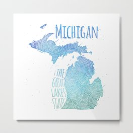 Michigan Metal Print