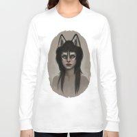 husky Long Sleeve T-shirts featuring Husky by Fernanda Suarez