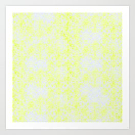 Damask Yellow Art Print