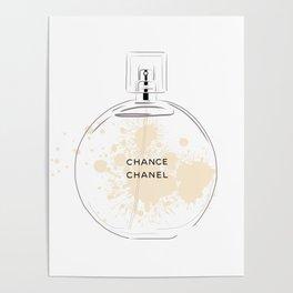 Round Beige Perfume Poster