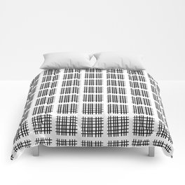 Black+White Check Pactch Comforters