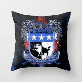 Doran Coat of Arms with motto Throw Pillow