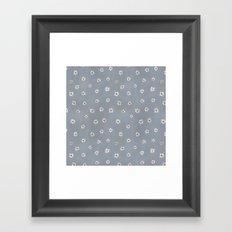 daisy pattern Framed Art Print