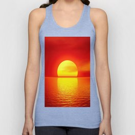 sun set home decor Unisex Tank Top