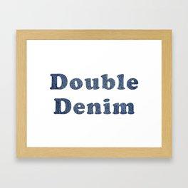 Double Denim Framed Art Print