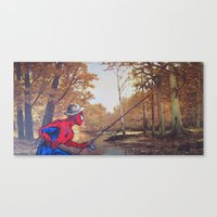 thegnarledbranch Canvas Prints featuring Gone Fishin' by TheGnarledBranch