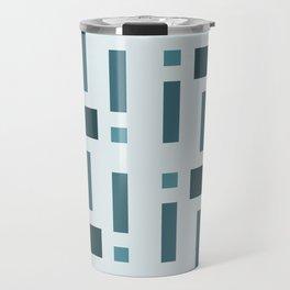 Pattern of Squares in Blue Travel Mug