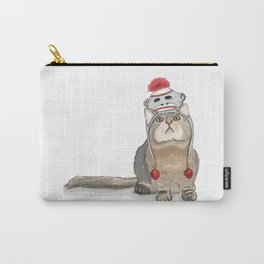 Sock monkey hat cat Carry-All Pouch