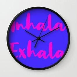 Inhala Exhala Blue Palette Wall Clock