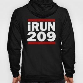 I Run 209 area code Design California Running Design Gift Hoody