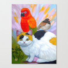 KITTY AND FRIENDS Canvas Print