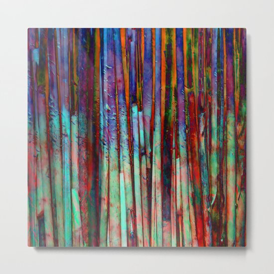 Colored Bamboo 2 Metal Print
