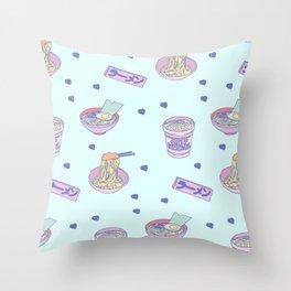 Pastel Ramen Pattern Throw Pillow