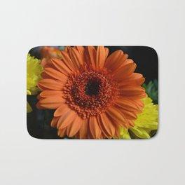 Orange Flower Bath Mat