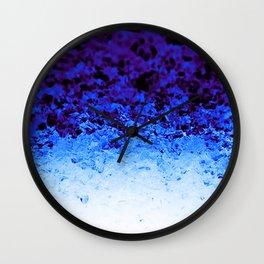 Indigo Blue Ombre Crystals Wall Clock