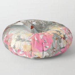 Misty rose garden Floor Pillow