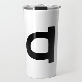 A Monogram (Hand 2) Travel Mug