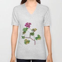 Geranium Botanical Unisex V-Neck