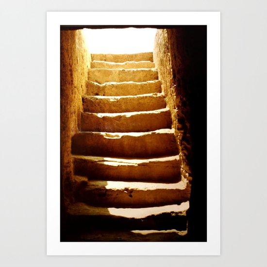 Steps to tomb Art Print
