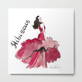 Hibiscus Dress Idea Metal Print