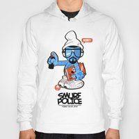 police Hoodies featuring SMURF POLICE by benny the kid