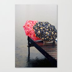 Rainy Day Friends Canvas Print