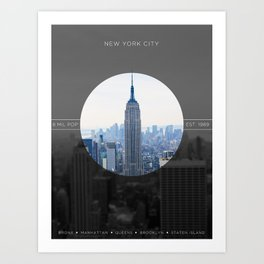 Zoom in to NYC Art Print