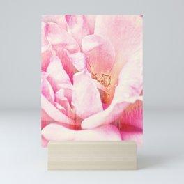 Pink Rose Glitch Mini Art Print