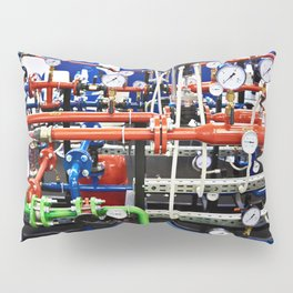 Piping with manometers for industry Pillow Sham