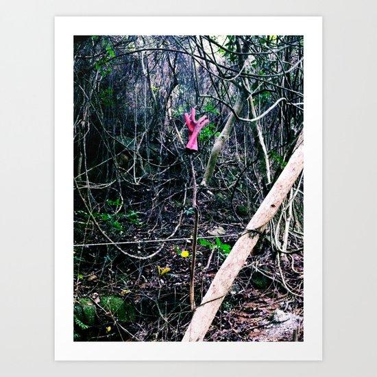 someone in the wonderland?! Art Print