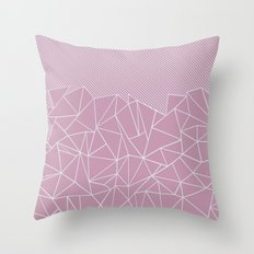 Ab Lines 45 Pink Throw Pillow