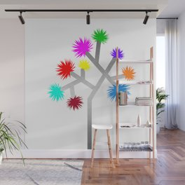 Joshua Tree Pom Poms by CREYES Wall Mural