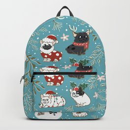 Christmas French Bulldog Backpack
