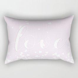Delicate Love Rose Pink Glitter Design Rectangular Pillow
