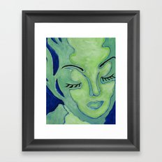 Mug Shot Blue/Lares and Penates Series Framed Art Print