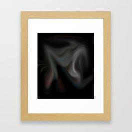 lighting storm Framed Art Print