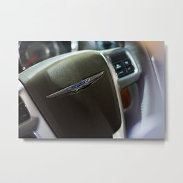 Chrysler Town & Country Limited Steering Wheel Metal Print