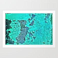 aqua paint Art Print