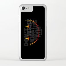 don't wake what's inside me! Clear iPhone Case