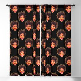Natural Hair Afro Girl Pastel Blackout Curtain