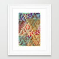 geo Framed Art Prints featuring Geo by Ashley Keeley